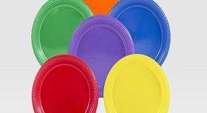 بشقاب یکبار مصرف رنگی
